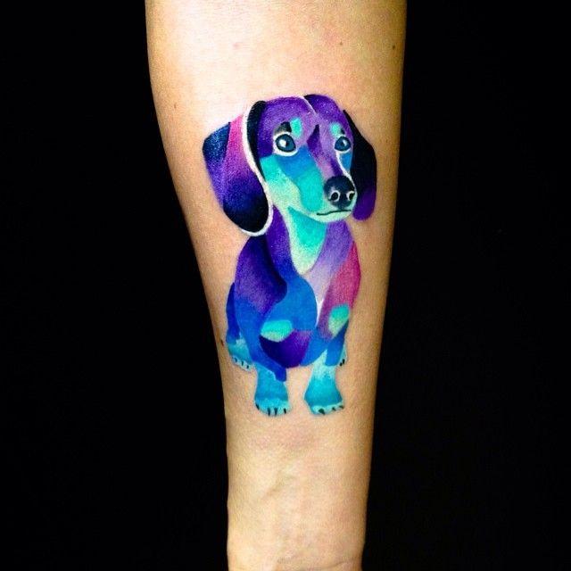 #dog #dachshund #dachshundtattoo #tattoo