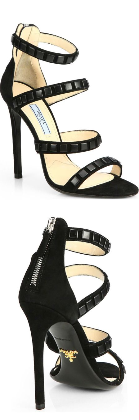 The strapy shoe everyone needs and of course it's Prada