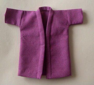 Kimono   /  veste d'intérieur en polaire, doublée.  (rajoutés : une ceinture et 2 poches )