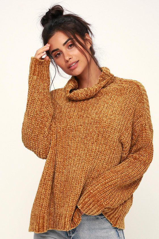 Golden Child Mustard Yellow Turtleneck Sweater In 2018 Fashion