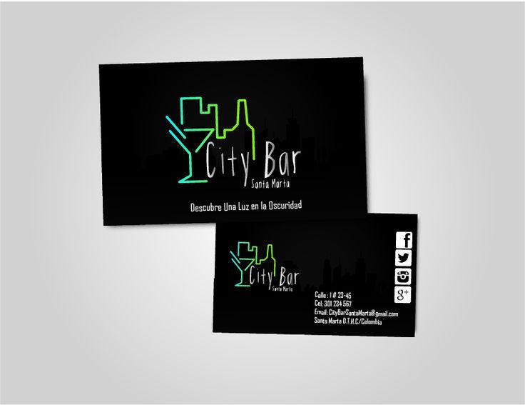 city Bar #Tarjetasdepresentacion #jezaDG #cardpresentation