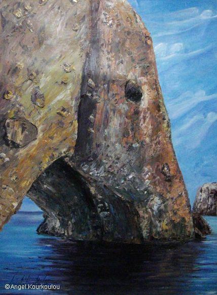 ΑΝΤΙΠΑΡΟΣ ΙΙ, λάδι σε καμβά, 35x50cm, 2010 ANTIPAROS ΙI, oil on canvas, 35x50cm, 2010