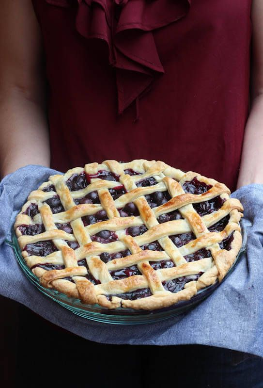 Homemade Fresh Blueberry Pie - only a few simple ingredients and the easiest homemade pie crust create this delectable pie!