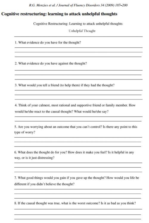 Printables Depression Therapy Worksheets 1000 images about counseling worksheets printables on this is a worksheet that centered around cognitive restructuring