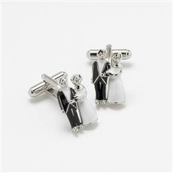 Bride and Groom Engraved silver metal cufflinks with a swivel bar. Perfect for the Groom on his big day - why not get them for the rest of the wedding party? Available from WowWee.ie: €19.99