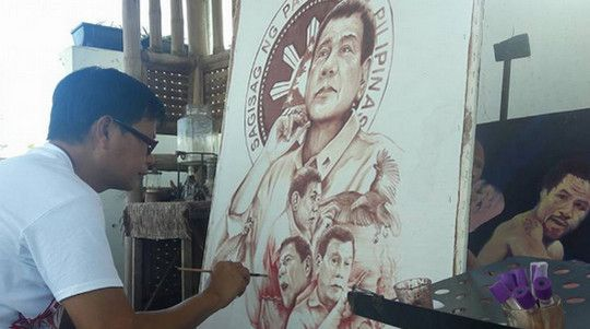 A Filipino blood painter is now painting the images of President Rodrigo Duterte using his own blood and sweat. Meet Elito Circa, aka Amang Pintor, who has no formal training in painting but has already painted around 600 works of arts since 1980, using hair, and his own blood and sweat. This year, his chosen…