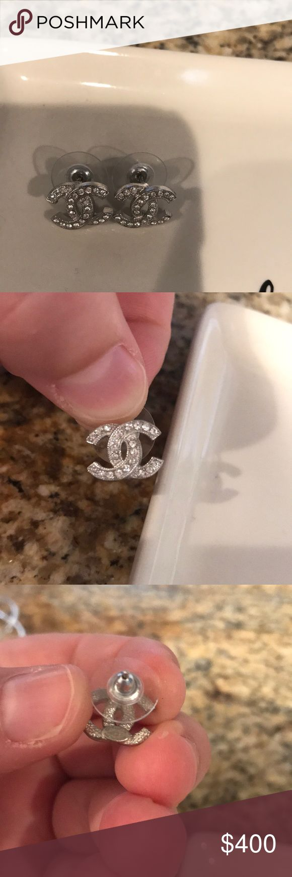 Authentic Chanel earrings Purchased 2 years ago from the real real CHANEL Jewelry Earrings