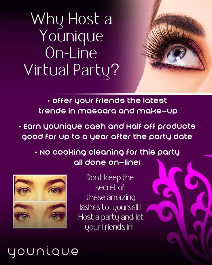 Why host an online Younique makeup bash? It's SIMPLE! Get your party started here: https://www.youniqueproducts.com/NicoleYoung/presenter/myparties