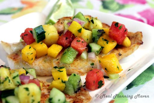 Broiled Grouper with Tropical Fruit Salsa Recipe | Yummly
