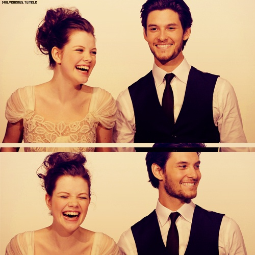 Georgie Henley and Ben Barnes from the Chronicles of Narnia movies. Georgie looks so pretty here. <3
