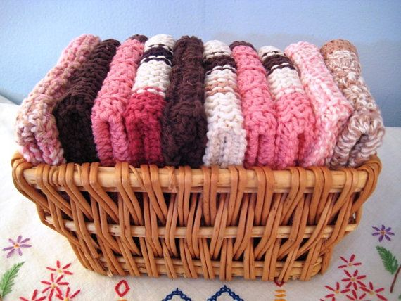 Dish Cloths Knitted and Crocheted , great gift idea.