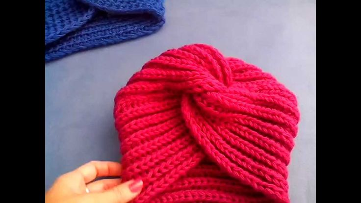 Подробное описание вязания тюрбана чалма turban hat knitting
