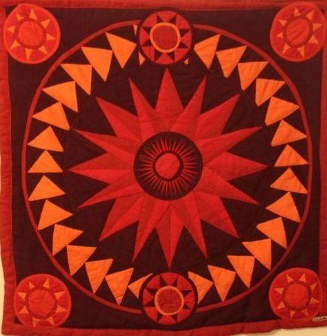 mandala red sun