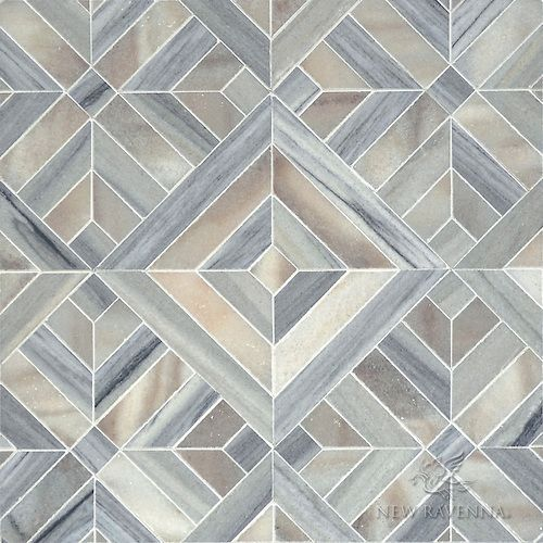 The Art Gallery Laberinto Grand a stone mosaic Parterre Colletion Designed by Paul Schatz for New Floor DesignTile