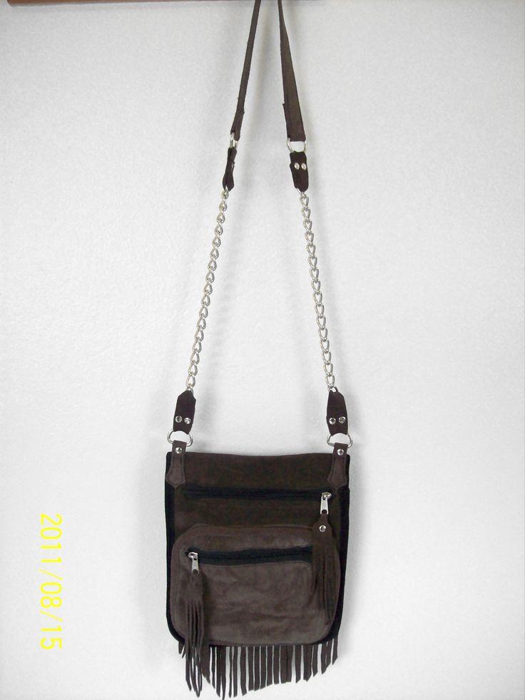 Brown Suede Sling Bag