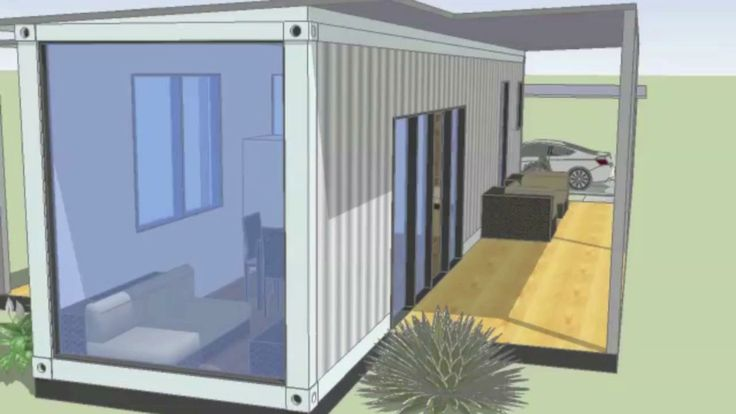 Container house layout. Guest house.