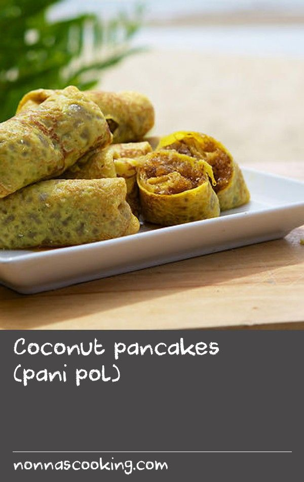 """Coconut pancakes (pani pol) 