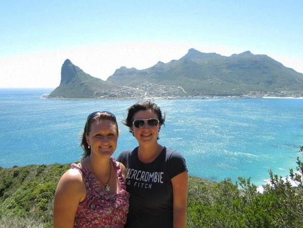 Monique enjoying a summer's day in Cape Town overlooking Hout Bay