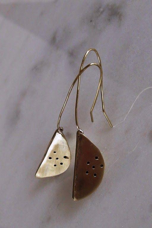 handmade jewellery - Kiki   χειροποίητα κοσμήματα: brass, earrings