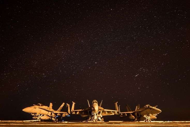 First image of 2018 from the deck of USS Theodore Roosevelt in the Persian Gulf