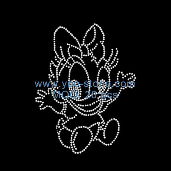 Cartoon Rhinestone Motif Designs For Decorate t Shirt