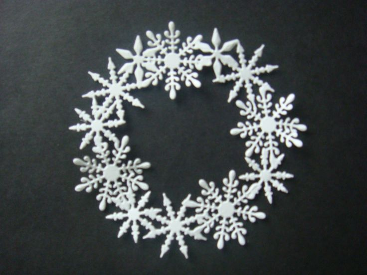 Snowflake Circles by Joy Craft x 5 , 250 gsm smooth white card in Crafts, Cardmaking & Scrapbooking, Die-Cut Shapes & Punchies | eBay