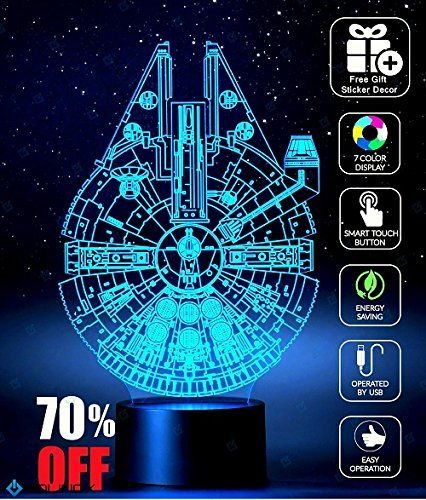 1e2571926419  MensGifts Millennium Falcon Star Wars Decoration light Christmas Gift  advent calendar 2017 toys