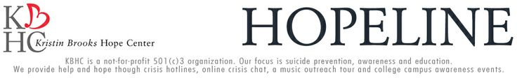 Hopeline - National Hotline focuses on suicide prevention, awareness, and education. Offers crisis hotline, online crisis chat (www.hopeline.com).