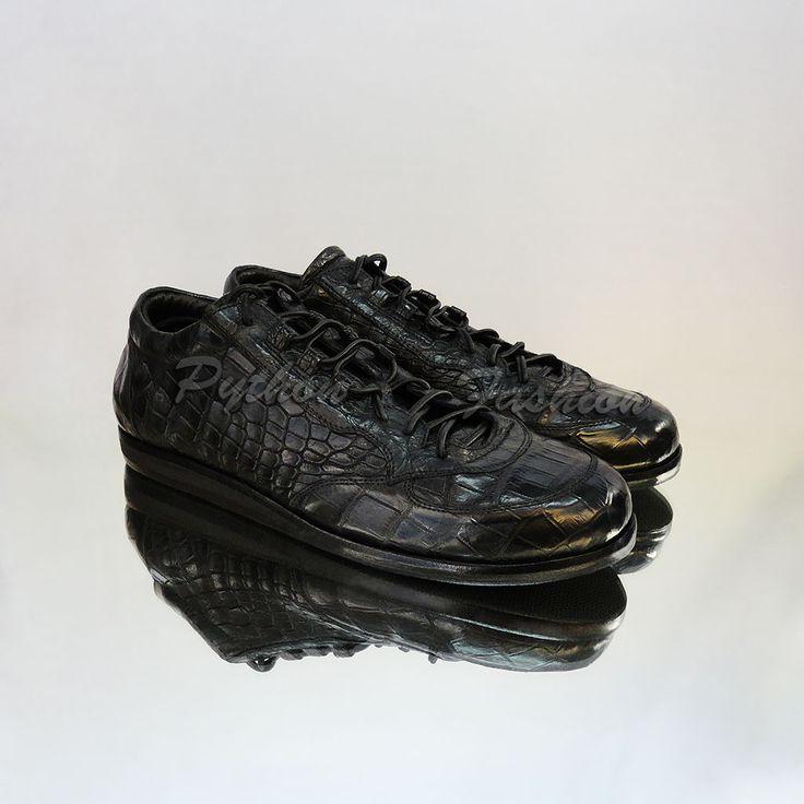 Мужские кеды из крокодиловой кожи | Python Fashion