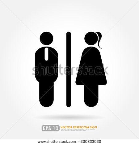 Toilet icon   male   female symbols on white background   stock vector. Best 25  Toilet icon ideas on Pinterest   Toilet logo  Toilet