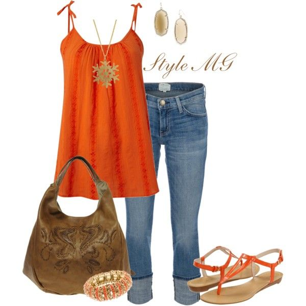Orange you lovely...not normally an orange girl, but cute set.Dreams Closets 3, Cloths Fashion, Crazy Style, Orange Style, Clothing Spring Summe, Closets Inspiration, Create, Coordinating Outfit, Style Clothing