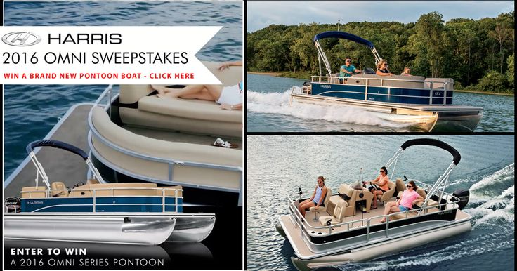 Harris Boats is giving away a 2016 Onmi Pontoon Boats. Enter now for your chance to win.