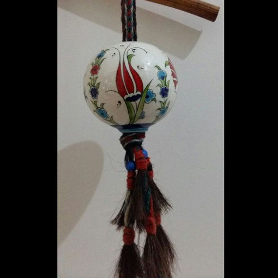 Turkish ottoman handmade painting ceramic sphere by nurceramicarts christmas gift