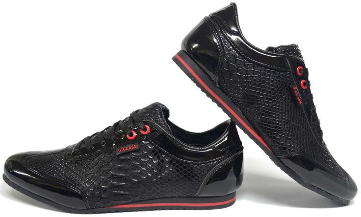 Heren Krokodil Zwarte Sneaker met Rode DetailsDe mooiste heren schoenen bestelt u in onze winkel. Bij ons vindt u verschillende betaalbare sneakers, nette schoenen en sport schoenen. U vindt gegarendeerd de exclusieve schoenen die u outfit compleet maakt. Bekijk ons collectie!!! Er is vast wel een s