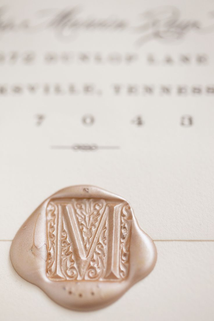 I want this! But with MK on it. Letterpress Wedding Invitation | Letterpress Wedding Stationary | Wax Seal on Wedding Invitation Envelope | Wax Seal of Bride's Maiden Name | Wax Sealed Envelope.