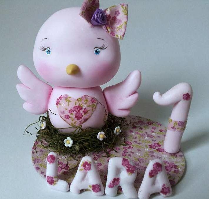 vela para enfeite de bolo tema passarinho,tema muito delicado e diferente pra meninos e meninas