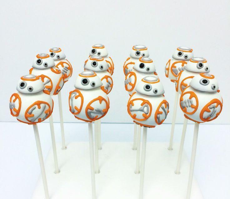 BB-8 Star Wars Cake Pops 1 Dozen by TheMadPlatterKitchen on Etsy https://www.etsy.com/listing/262454539/bb-8-star-wars-cake-pops-1-dozen