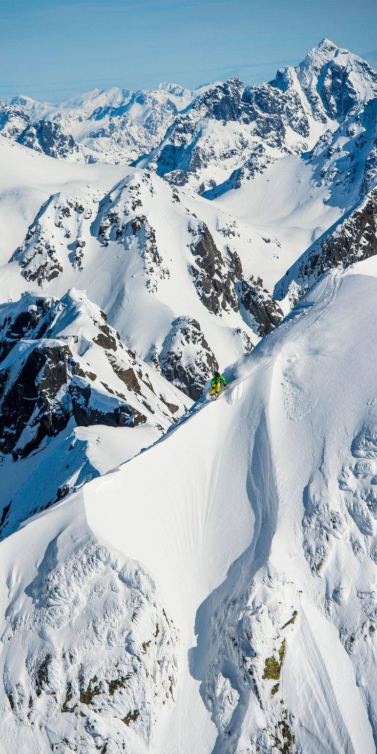 The beauty, the freedom, the love. It's no secret that our passion lives and breathes in those mighty mountain peaks filled with snow. Gear up in lofoten for big mountain freeriding at http://bit.ly/lofoten2014  Photo: Sverre Hjørnevik