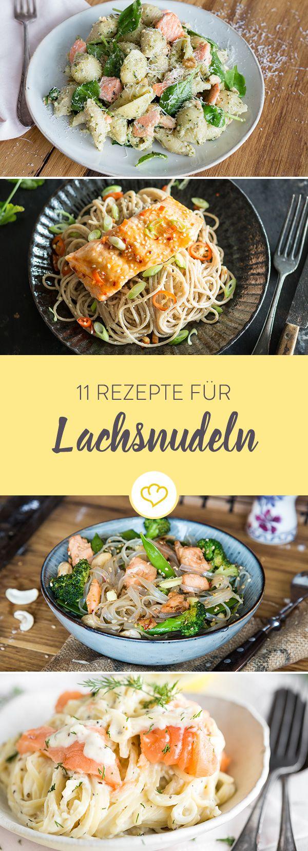 Lachs liebt Pasta. Pasta liebt Lachs. Darum gehören die beiden Köstlichkeiten aus der Küche auch bei diesen 11 Nudelgerichten für Feinschmecker zusammen.