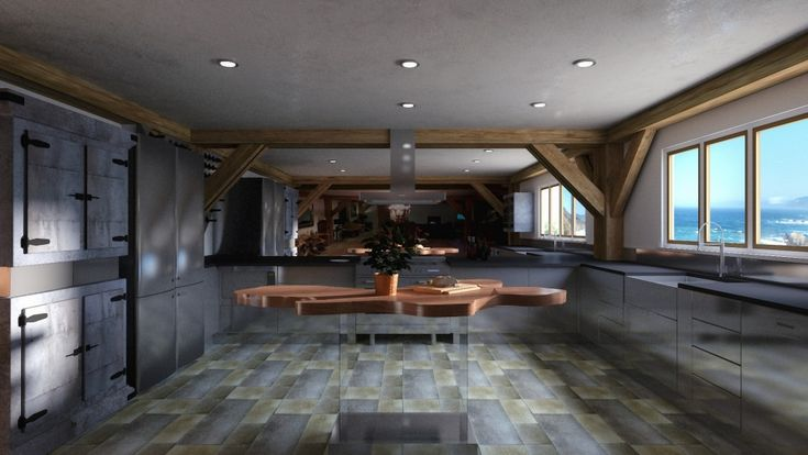 3D Kitchen Visualisation in Widemouth, Cornwall