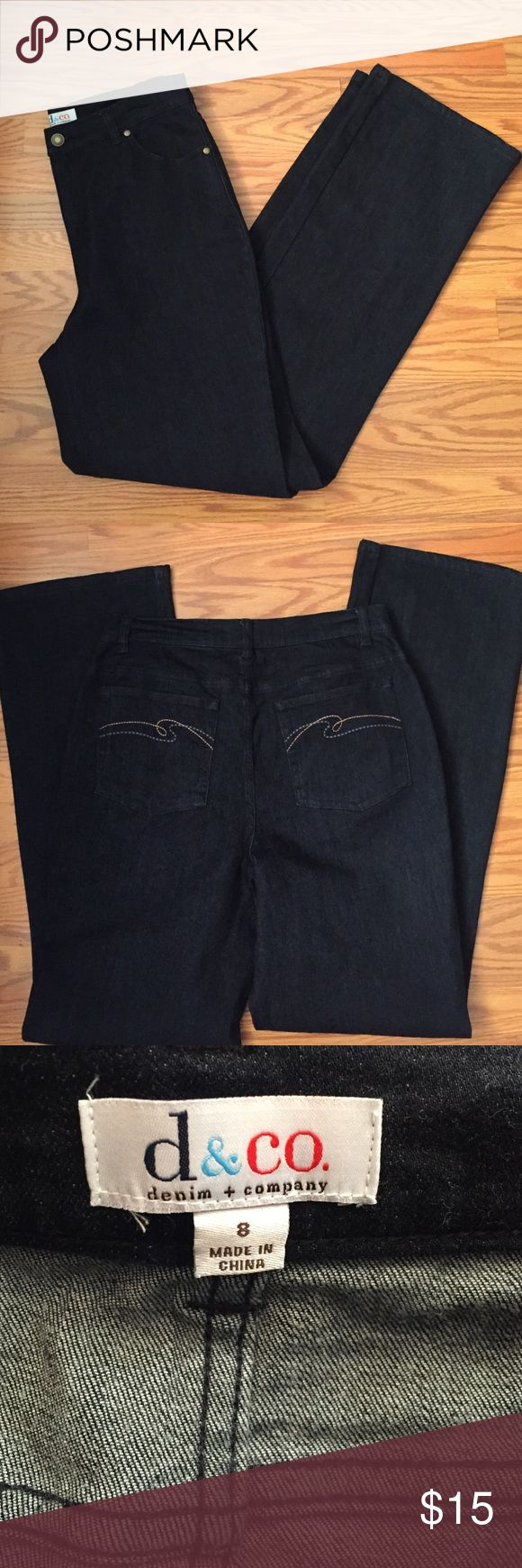 "Denim + company jeans D&co jeans, NWOT inseam 32"" from qvc home shopping network denim + company Jeans Boot Cut"
