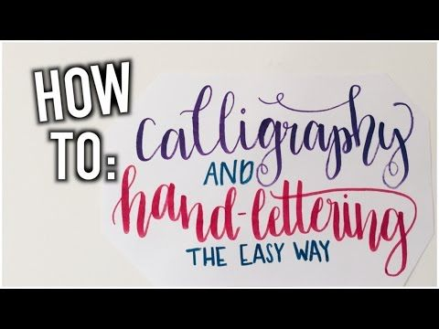 Have you ever wanted to get good at calligraphy. Well look no further than this…
