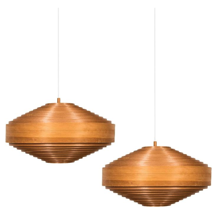 Hans agne jakobsson ceiling lamps model t 547 in pine
