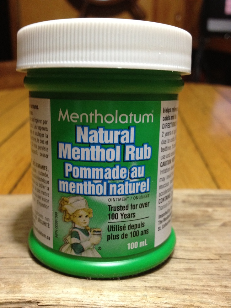 Cough Due To Cold Rub This Natural Menthol Rub On Your