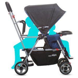 Amazon.com : Joovy Caboose Ultralight Stroller, Black : Tandem Strollers : Baby