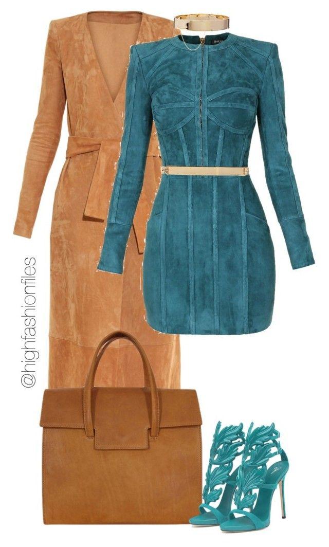 Untitled #2636 by highfashionfiles on Polyvore featuring polyvore fashion style Balmain Maison Margiela Eddie Borgo MICHAEL Michael Kors clothing