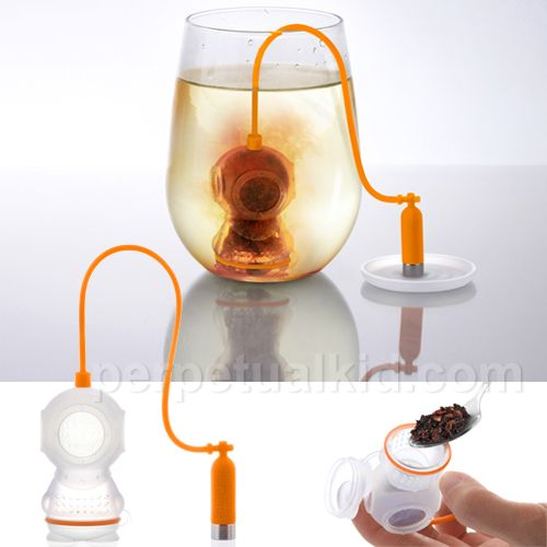 http://teatra.de playful: Dive into your tea with this little steeper. For sale shortly.