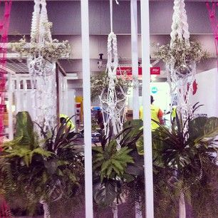 3m long macrame plant hangers for 'Grand Designs Live' 2014 Melbourne and Sydney  Cleopatra Jones Modern Macrame