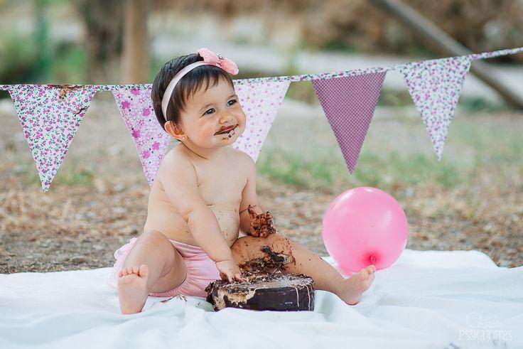 SMASH CAKE CARLA, 1 AÑO · Fotografía infantil de bebés en El Ejido Almería