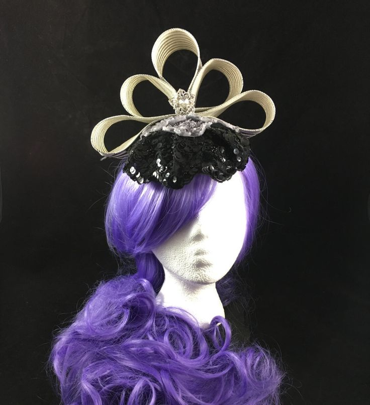 A personal favorite from my Etsy shop https://www.etsy.com/listing/493434142/black-stripe-fascinator-sequins-hat